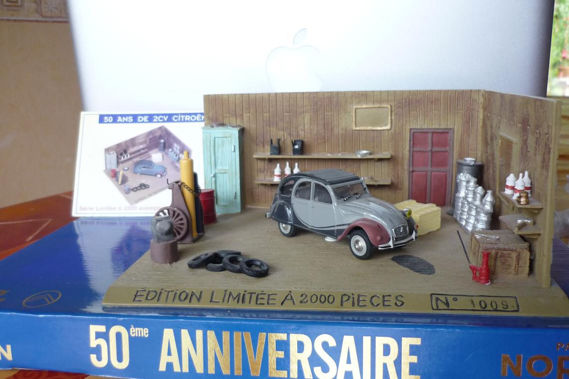 collection  2cv  citro u00ebn  miniature  diorama  1  43  fabbri
